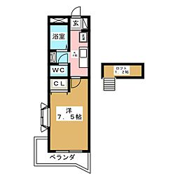 パルテノン福田町[3階]の間取り
