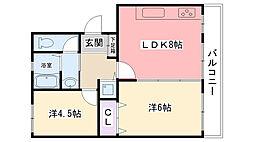 ファーストマンション[D3号室]の間取り