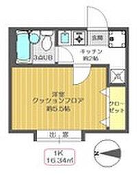 東京都江戸川区春江町2丁目の賃貸アパートの間取り