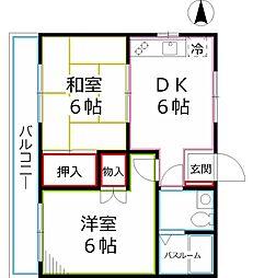 サニーマンション[3階]の間取り