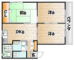 KMハイツV B棟[2階]の間取り