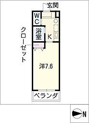 エクセランス御供所II[3階]の間取り