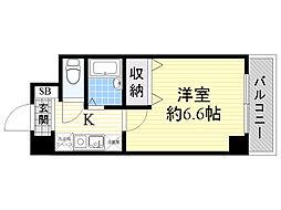 おおきに新大阪駅前サニーアパートメント[2階]の間取り