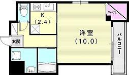 (仮)神戸市長田区二葉町マンション 4階1Kの間取り