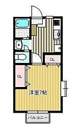 神奈川県相模原市南区北里2の賃貸アパートの間取り