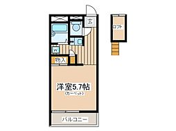 東京都府中市西府町5丁目の賃貸マンションの間取り