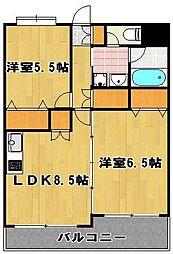 グランメール 博多東[2階]の間取り