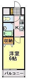 千葉県千葉市中央区末広4丁目の賃貸マンションの間取り