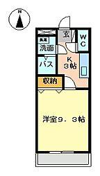 コーポ花館[1階]の間取り