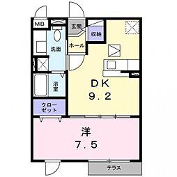クレセント茨木[1階]の間取り