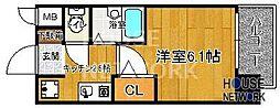 プレサンス京都四条烏丸[606号室号室]の間取り