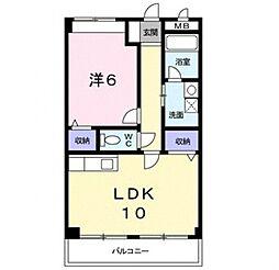近鉄南大阪線 高鷲駅 徒歩21分の賃貸マンション 3階1LDKの間取り