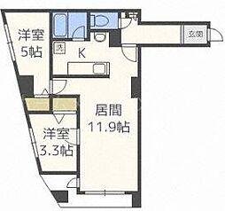 北海道札幌市白石区菊水五条2丁目の賃貸マンションの間取り