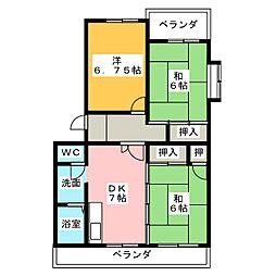 セゾン清洲[2階]の間取り