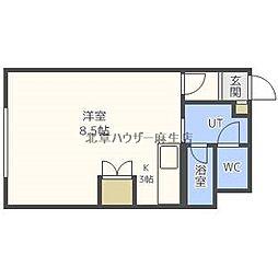 サザン麻生[2階]の間取り