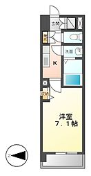 S-FORT山王[6階]の間取り