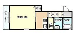 レジデンス早稲田[201号室]の間取り