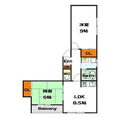東亜シティハイツ[2階]の間取り