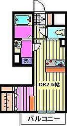 ティアレ川口[3階]の間取り