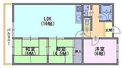 ハイコーポ長岡京C705号[7階]の間取り