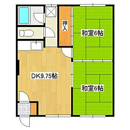 きついマンション[003号室]の間取り