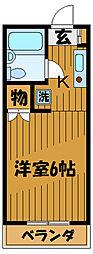 東京都国分寺市泉町の賃貸マンションの間取り