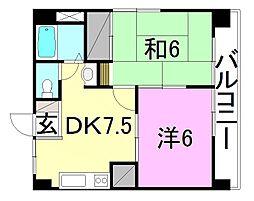 第77杉フラット[303 号室号室]の間取り