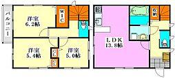 [一戸建] 千葉県船橋市夏見3丁目 の賃貸【/】の間取り
