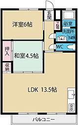 公社八王子狭間住宅[2階]の間取り