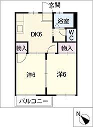 サニー新池[1階]の間取り