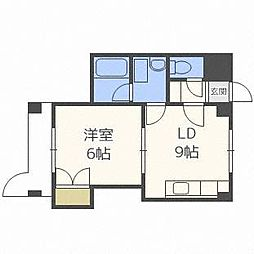 澄川4・3ビル[4階]の間取り