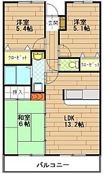 アルテール戸塚[2階]の間取り