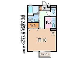 クレセントコート[1階]の間取り