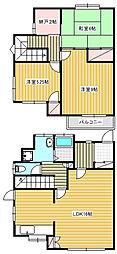 [テラスハウス] 神奈川県茅ヶ崎市白浜町 の賃貸【神奈川県 / 茅ヶ崎市】の間取り