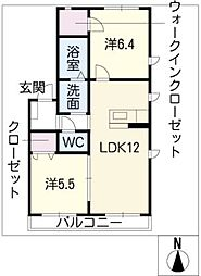 Laurel白壁[1階]の間取り