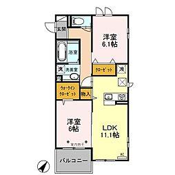 (仮)アルファ朝霞市浜崎3丁目[2階]の間取り