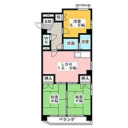 日映マンションII[8階]の間取り