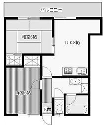 シティメゾン2[4階]の間取り