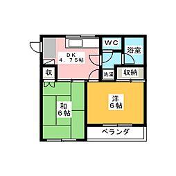 宝木町ハウス[2階]の間取り