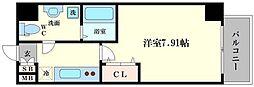 ウインズコート西梅田II[7階]の間取り