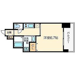 エイペックス大阪城西[5階]の間取り