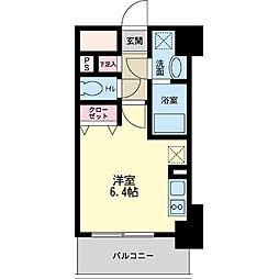 パシフィックレジデンス神戸八幡通[1005号室]の間取り