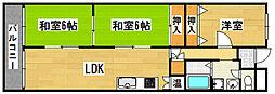 ライオンズマンション東本町[4階]の間取り