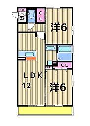 ラ・ボヌール[305号室]の間取り