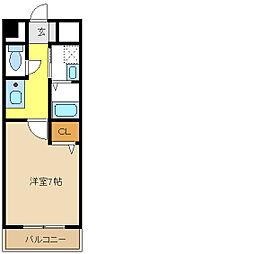 愛知県名古屋市天白区塩釜口1の賃貸マンションの間取り