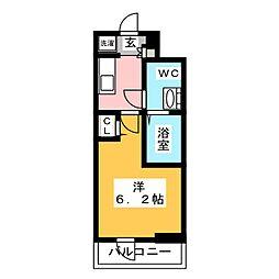 SHOKEN Residence亀有 9階1Kの間取り