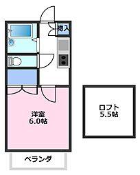 グリーンコープ霞ヶ関[1階]の間取り