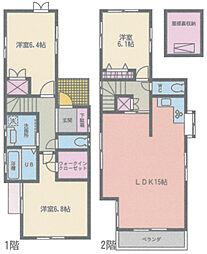 [一戸建] 神奈川県相模原市緑区東橋本4丁目 の賃貸【/】の間取り