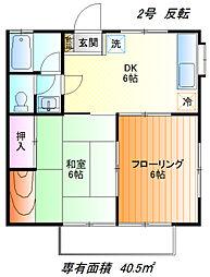 クオリティハウスB[2f号室]の間取り
