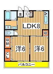 桜台コーポ2[101号室]の間取り